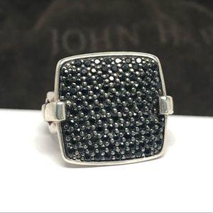 John Hardy Black Sapphire Lava Ring .925